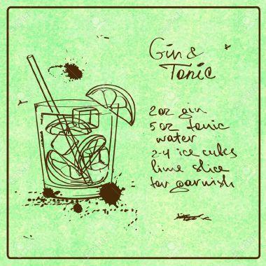 b95fe-33817783-illustrazione-con-disegnato-a-mano-schizzo-gin-tonic-cocktail-compreso-ricetta-e-gli-ingredienti-sul-archivio-fotografico